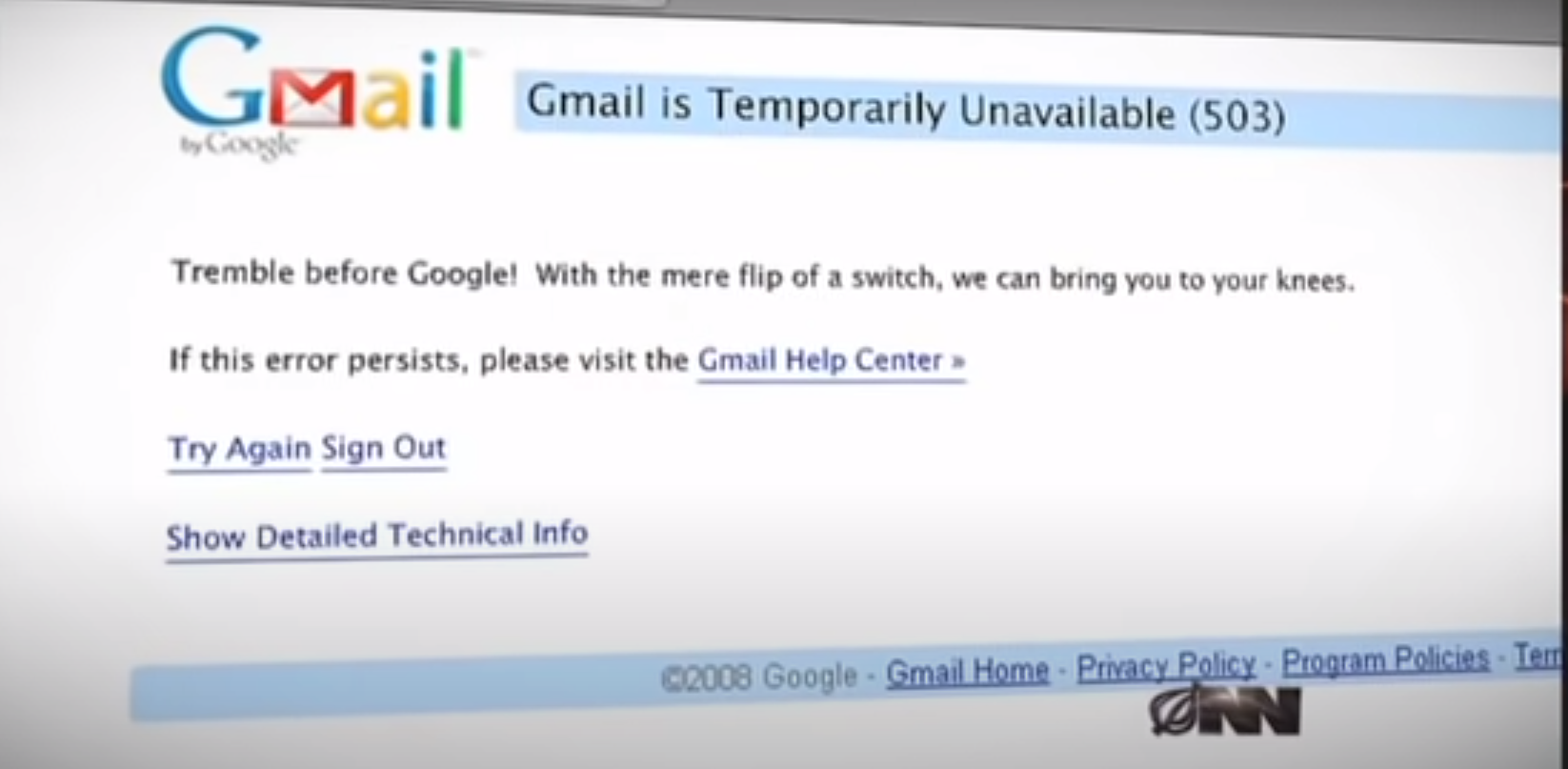 The Take Away From Google's Outage; The Internet Is Frail